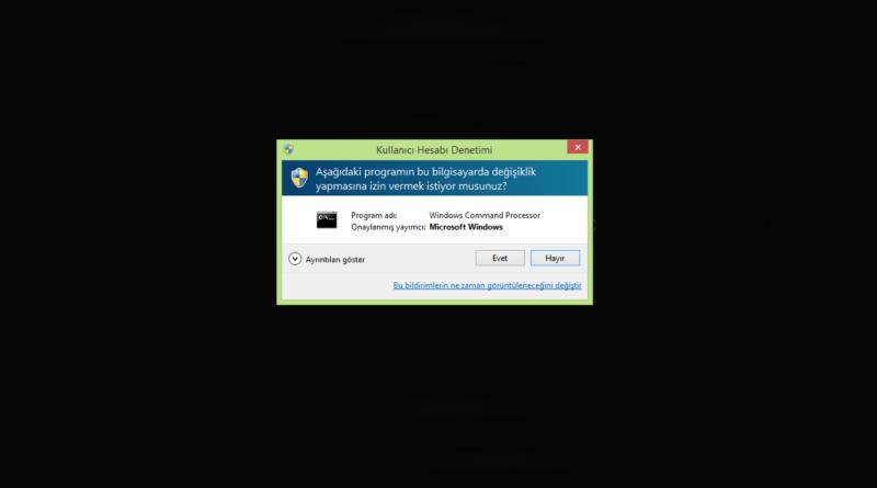 Kullanıcı Hesabı Denetim Ayarları (UAC) Windows 7, 8 veya 10'da Kolay Yoldan Devre Dışı Bırakın